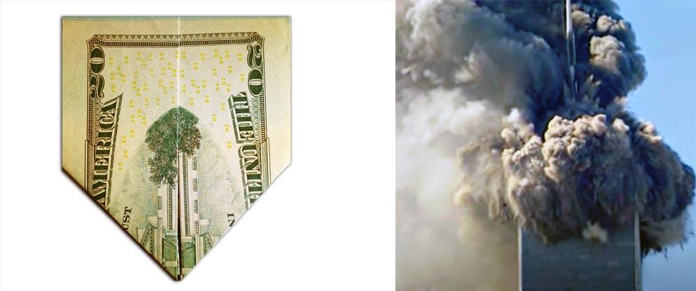 20 Dollar 911 Fully Folded