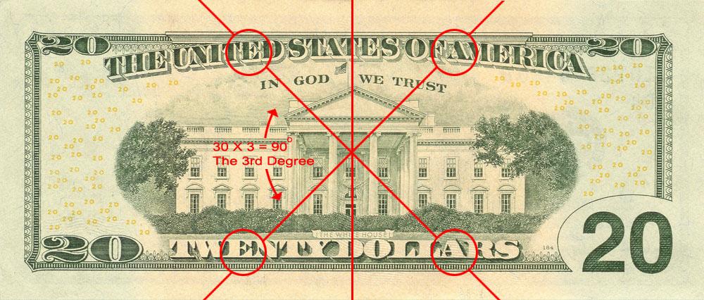 Symbols on Money - 20 Dollar Bill The Entered Apprentice