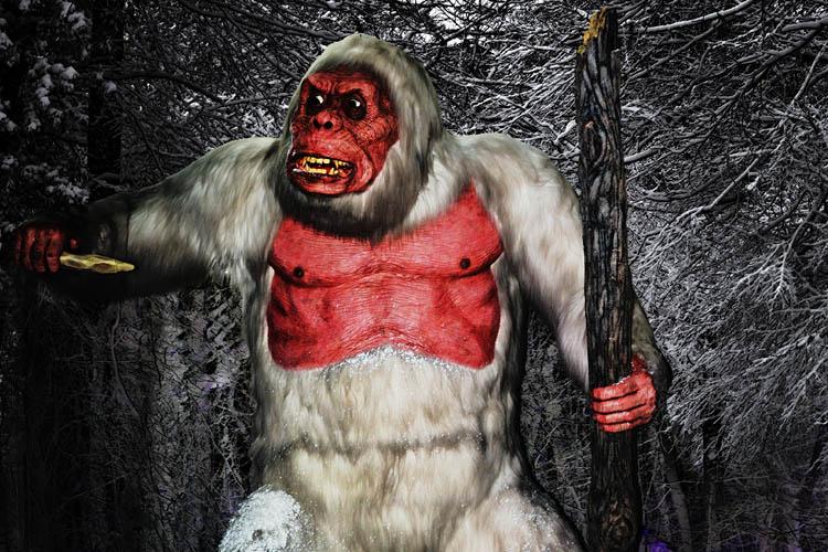 An Angry Yeti - Mythological Creatures