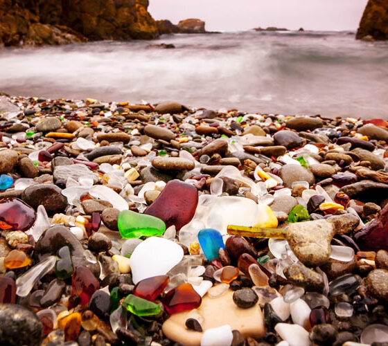 The Glass Beach of Fort bragg